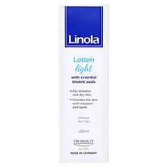 LINOLA Hautmilch leicht 200 Milliliter - Rückseite