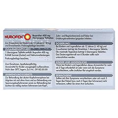 Nurofen Ibuprofen 400mg 24 Stück - Rückseite