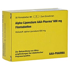 Alpha-Liponsäure AAA-Pharma 600mg 30 Stück N1