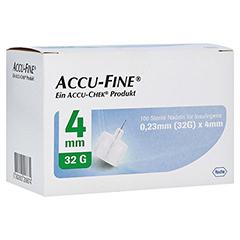 ACCU FINE sterile Nadeln f.Insulinpens 4 mm 32 G 100 Stück