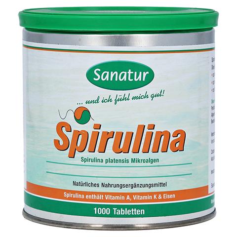 SPIRULINA MIKROALGEN 400 mg Sanatur Tabletten 1000 Stück