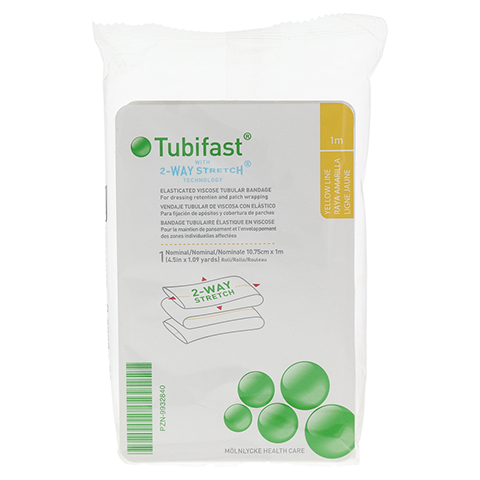 TUBIFAST 2-Way Stretch 10,75 cmx1 m gelb 1 Stück