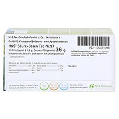 H&S Wohlfühltee feminin Säuren Basen Tee Fbtl. 20x1.8 Gramm - Unterseite