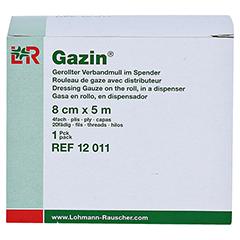 GAZIN Verbandmull 8 cmx5 m 4fach gerollt 1 Stück - Vorderseite
