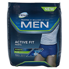 TENA MEN Active Fit Pants Plus L 10 Stück - Vorderseite