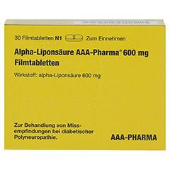 Alpha-Liponsäure AAA-Pharma 600mg 30 Stück N1 - Vorderseite