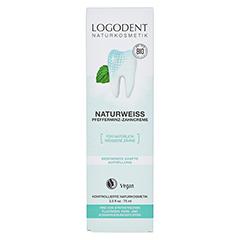 LOGODENT Naturweiss Pfefferminz-Zahncreme 75 Milliliter - Vorderseite