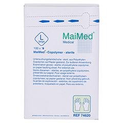MAIMED Copolymer Handschuh steril Gr.L einz.verp. 100 Stück - Vorderseite