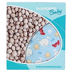 KIRSCHKERNKISSEN 10x10 cm Baby weiß/rosa kariert 1 Stück - Vorderseite