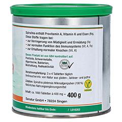 SPIRULINA MIKROALGEN 400 mg Sanatur Tabletten 1000 Stück - Linke Seite