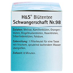 H&S Schwangerschaft Blütentee Filterbeutel 20x1.5 Gramm - Linke Seite