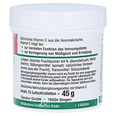 ACEROLA LUTSCHTABLETTEN m.natürl.Vitamin C 75 Stück - Linke Seite