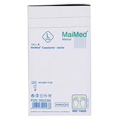 MAIMED Copolymer Handschuh steril Gr.L einz.verp. 100 Stück - Linke Seite