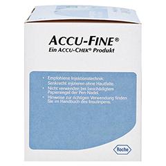 ACCU FINE sterile Nadeln f.Insulinpens 4 mm 32 G 100 Stück - Rechte Seite