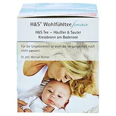 H&S Schwangerschaft Blütentee Filterbeutel 20x1.5 Gramm - Rechte Seite