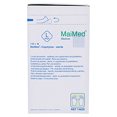 MAIMED Copolymer Handschuh steril Gr.L einz.verp. 100 Stück - Rechte Seite