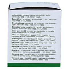 GAZIN Verbandmull 8 cmx5 m 4fach gerollt 1 Stück - Rechte Seite