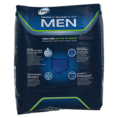 TENA MEN Active Fit Pants Plus L 10 Stück - Rückseite