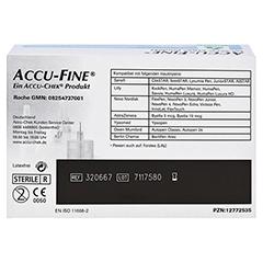 ACCU FINE sterile Nadeln f.Insulinpens 4 mm 32 G 100 Stück - Rückseite