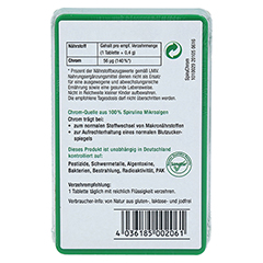 SPIRUCHROM Chrom Spirulina Tabletten 100 Stück - Rückseite