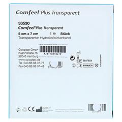 COMFEEL Plus transparenter Wundverb.5x7 cm 35300 10 Stück - Rückseite