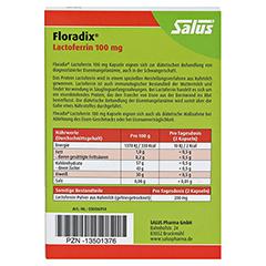 Floradix Lactoferrin 100 mg Kapseln 30 Stück - Rückseite