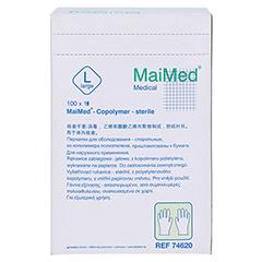 MAIMED Copolymer Handschuh steril Gr.L einz.verp. 100 Stück - Rückseite