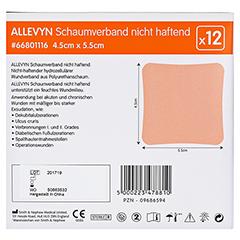 ALLEVYN Schaumverband 4,5x5,5 cm nicht haftend 12 Stück - Rückseite