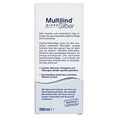 MULTILIND Mikrosilber Lotion 200 Milliliter - Rückseite