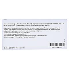 ARTERIA CORONARIA GL D 6 Ampullen 10x1 Milliliter N1 - Rückseite