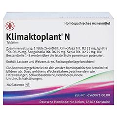 KLIMAKTOPLANT N Tabletten 280 Stück N3 - Rückseite