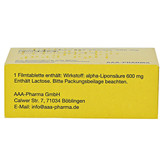 Alpha-Liponsäure AAA-Pharma 600mg 30 Stück N1 - Oberseite