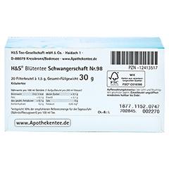 H&S Schwangerschaft Blütentee Filterbeutel 20x1.5 Gramm - Unterseite