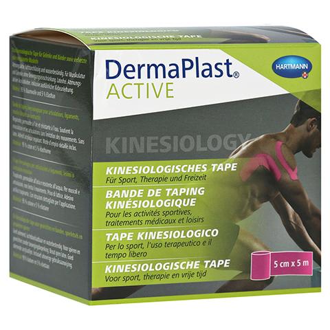 DERMAPLAST Active Kinesiology Tape 5 cmx5 m pink 1 Stück