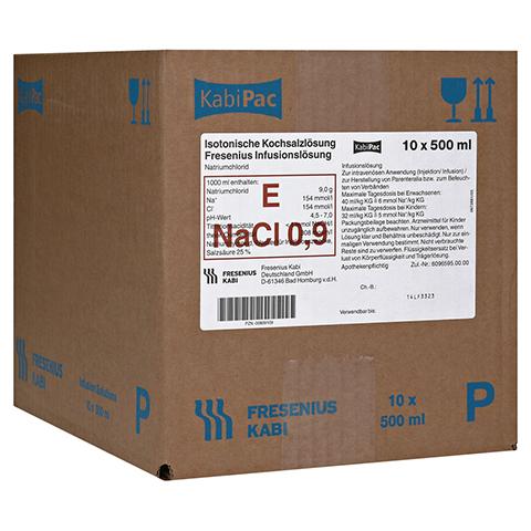 KOCHSALZLÖSUNG 0,9% Plastikfl.Fresenius 10x500 Milliliter N2