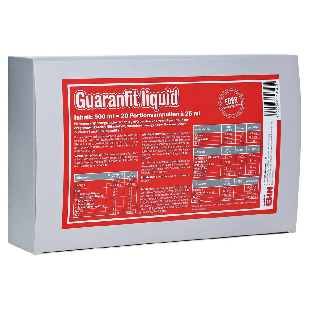 GUARANAFIT Liquid Trinkampullen 20 Stück