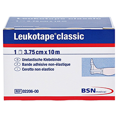 Leukotape Classic 3,75 cmx10 m weiß 1 Stück - Vorderseite