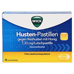 WICK Husten-Pastillen gegen Reizhusten mit Honig 12 Stück - Vorderseite