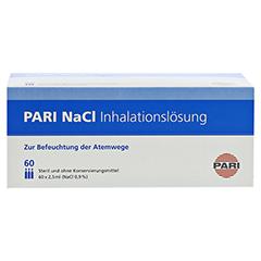 PARI NaCl Inhalationslösung Ampullen 60x2.5 Milliliter - Vorderseite