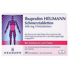 Ibuprofen Heumann Schmerztabletten 400mg 10 Stück N1 - Vorderseite
