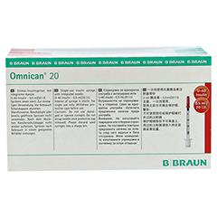 OMNICAN Insulinspr.0,5 ml U40 m.Kan.0,30x8 mm 100 Stück - Vorderseite