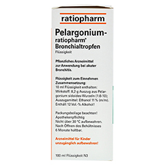 Pelargonium-ratiopharm Bronchialtropfen 100 Milliliter N3 - Linke Seite