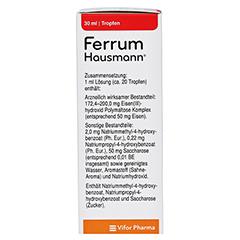 Ferrum Hausmann 50mg Eisen/ml Lösung 30 Milliliter N1 - Linke Seite