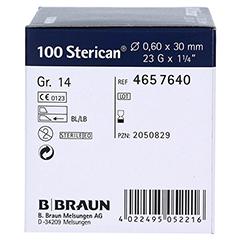 STERICAN Kanülen Luer-Lok 0,60x30 mm Gr.14 blau 100 Stück - Linke Seite