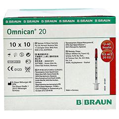 OMNICAN Insulinspr.0,5 ml U40 m.Kan.0,30x8 mm 100 Stück - Linke Seite