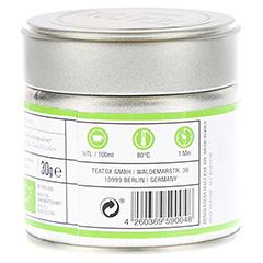 TEATOX Matcha-Organic green Tea Powder Dose 30 Gramm - Rechte Seite