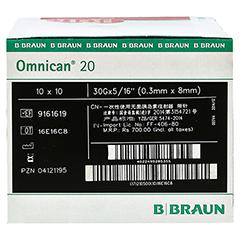 OMNICAN Insulinspr.0,5 ml U40 m.Kan.0,30x8 mm 100 Stück - Rechte Seite