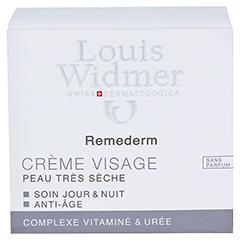 Louis Widmer Remederm Gesichtscreme (unparfümiert) 50 Milliliter - Rückseite