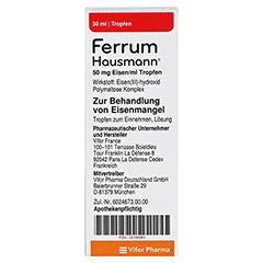 Ferrum Hausmann 50mg Eisen/ml Lösung 30 Milliliter N1 - Rückseite