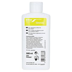 SILONDA Hautpflege Lotion Spenderflasche 500 Milliliter - Rückseite
